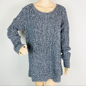 LOFT Cable Knit Crew Neck Pullover Sweater XL